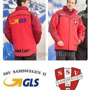 SSV Samswegen, Beschriftung von Stadionjacken