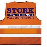 Fa. Stork Umweltdienste GmbH Magdeburg, Beschriftung von Warnwesten